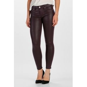Paige | Verdugo Ankle Purple Coated Skinny Jean